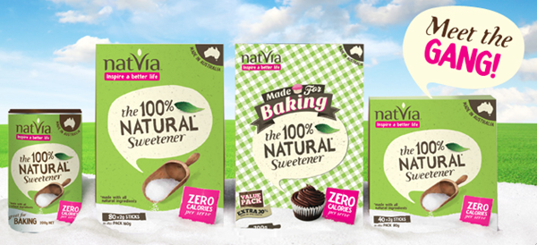 giveaway thumb Flourless Banana Berry Oatmeal Muffins + A Sweet Natvia Giveaway!