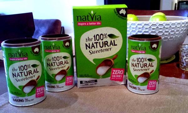 natvia4 thumb Flourless Banana Berry Oatmeal Muffins + A Sweet Natvia Giveaway!