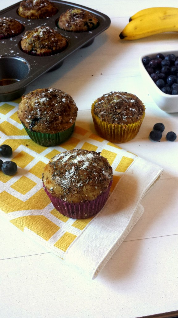 Blueberry Banana Muffins `4