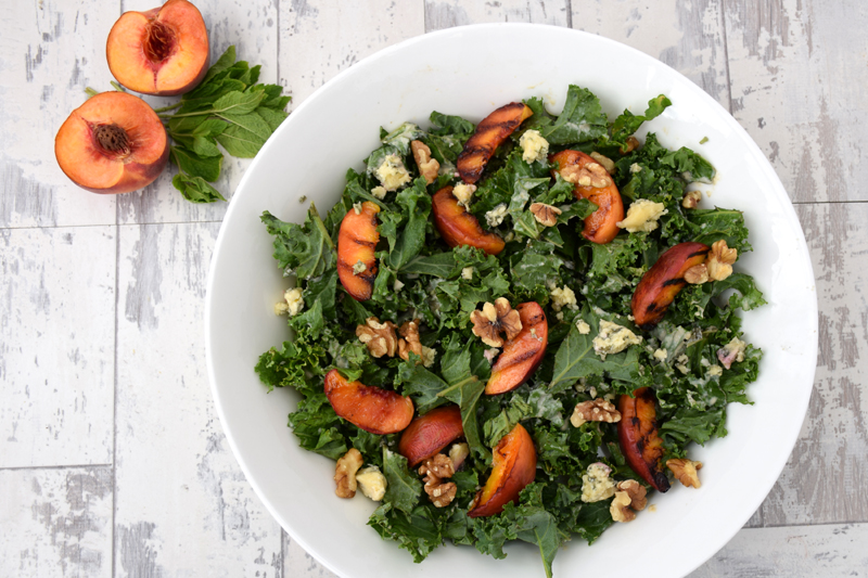 Kale-Salad-With-Grilled-Peach-Blue-Cheese-and-Tahini-Dressing-v800V2