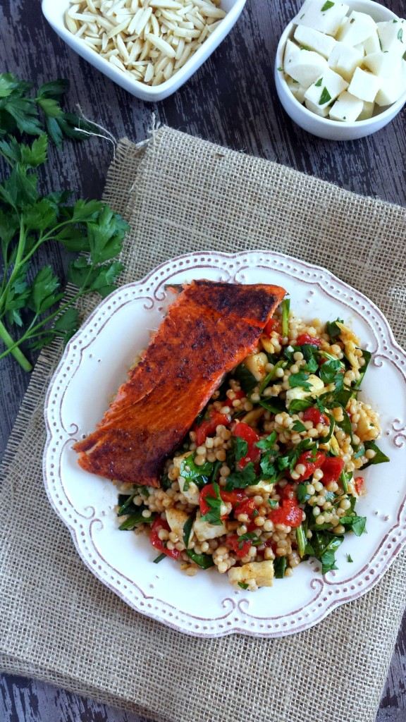Israeli Couscous Salad with Smoked Paprika & Salmon 6