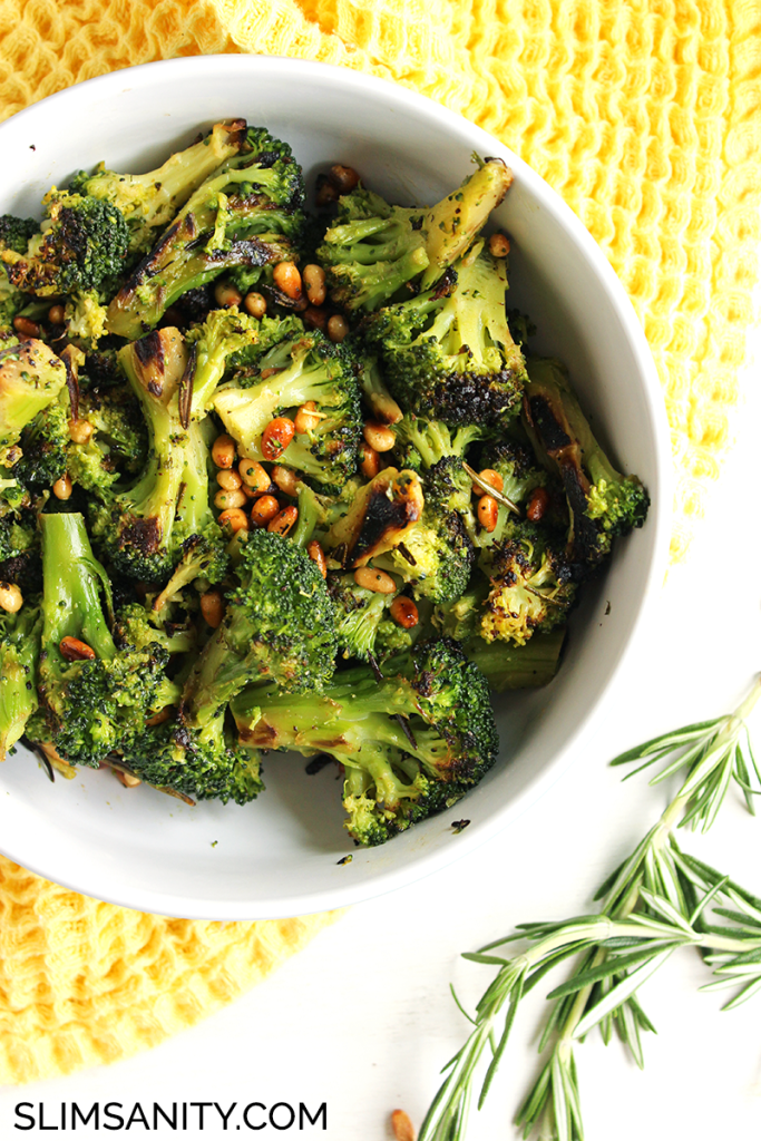 Rosemary roasted broccoli with toasted pine nuts 1
