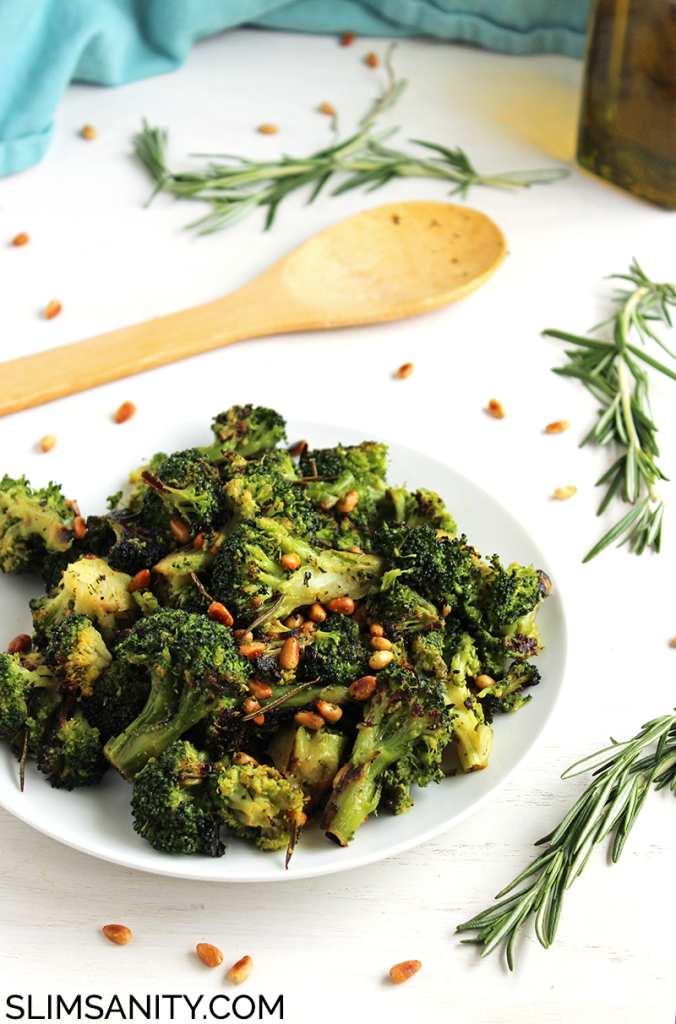 Rosemary roasted broccoli with toasted pine nuts 2
