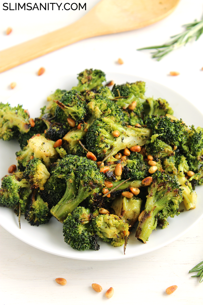Rosemary roasted broccoli with toasted pine nuts 3