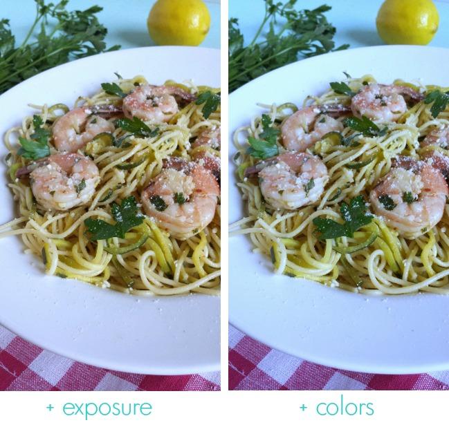 exposure vs colors
