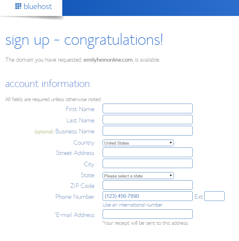 congrats sign up