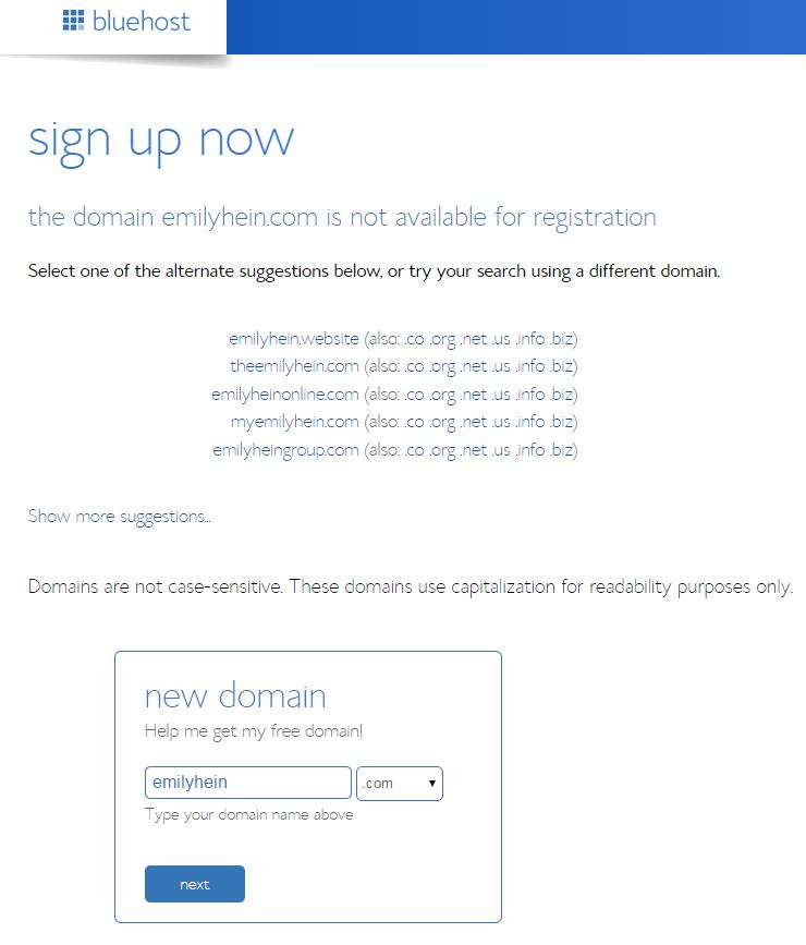 domain name sugg