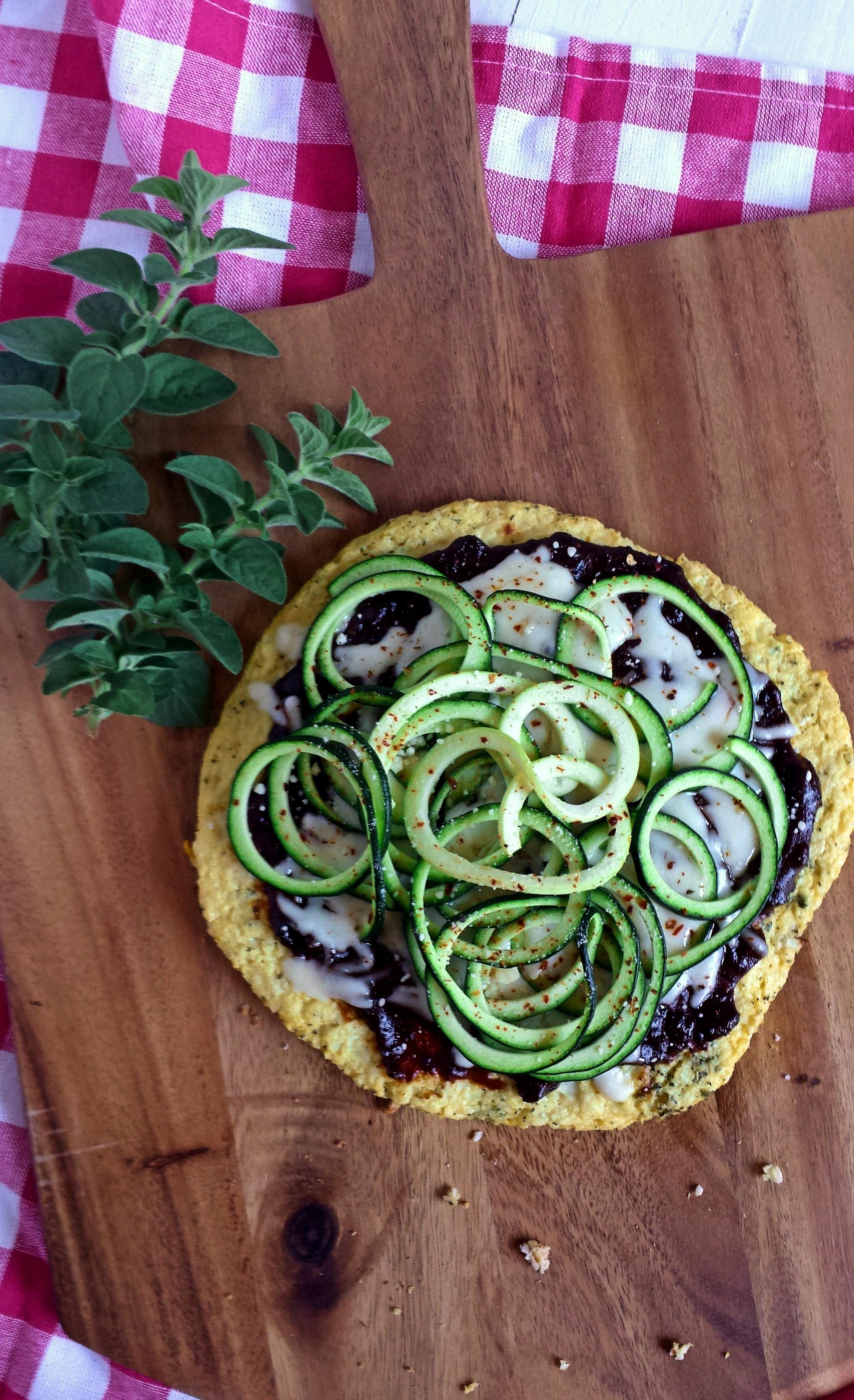 Plum BBQ Zoodle Pizza with Cauliflower Crust 1 polarr