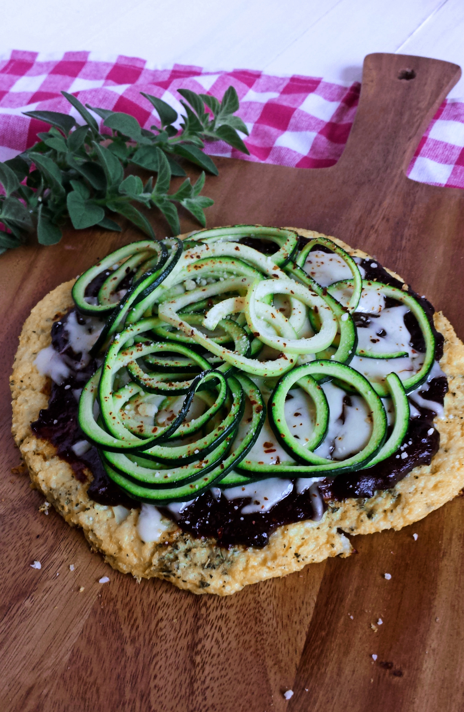 Plum BBQ Zoodle Pizza with Cauliflower Crust 2 polarr