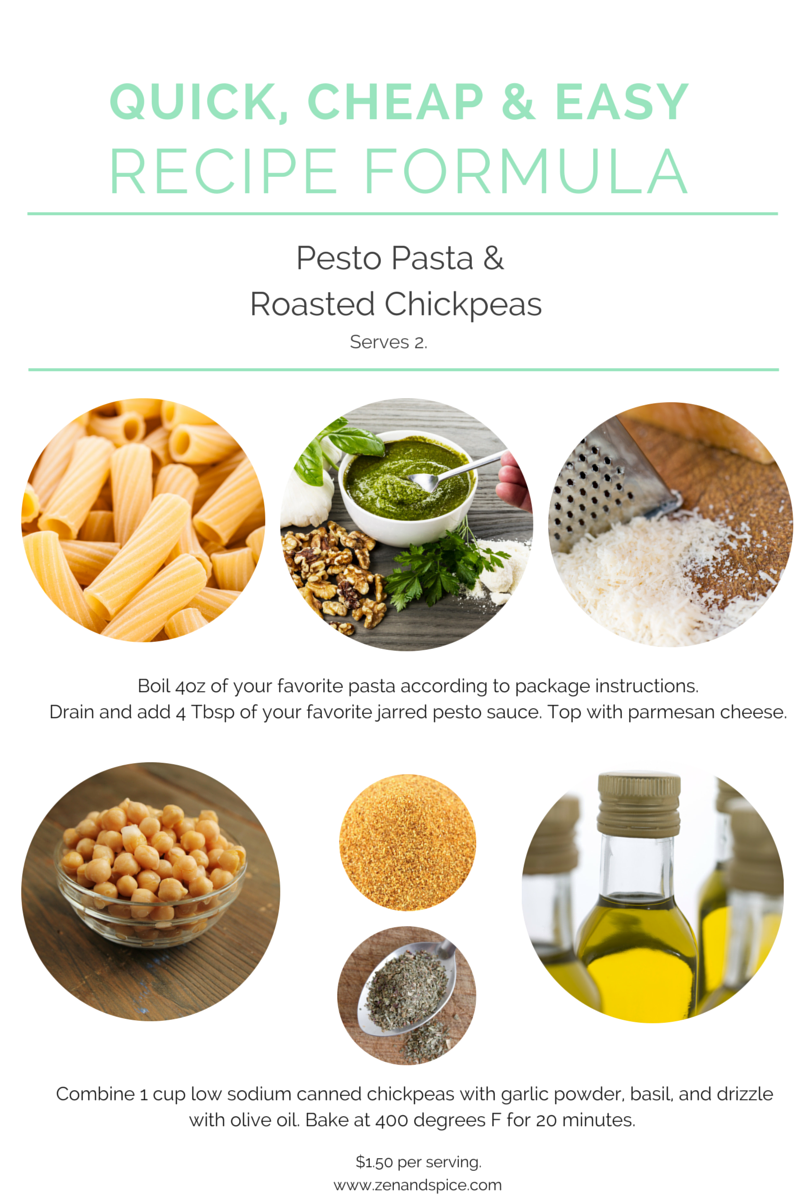 easy recipe- pasta pesto chickpeas (3)
