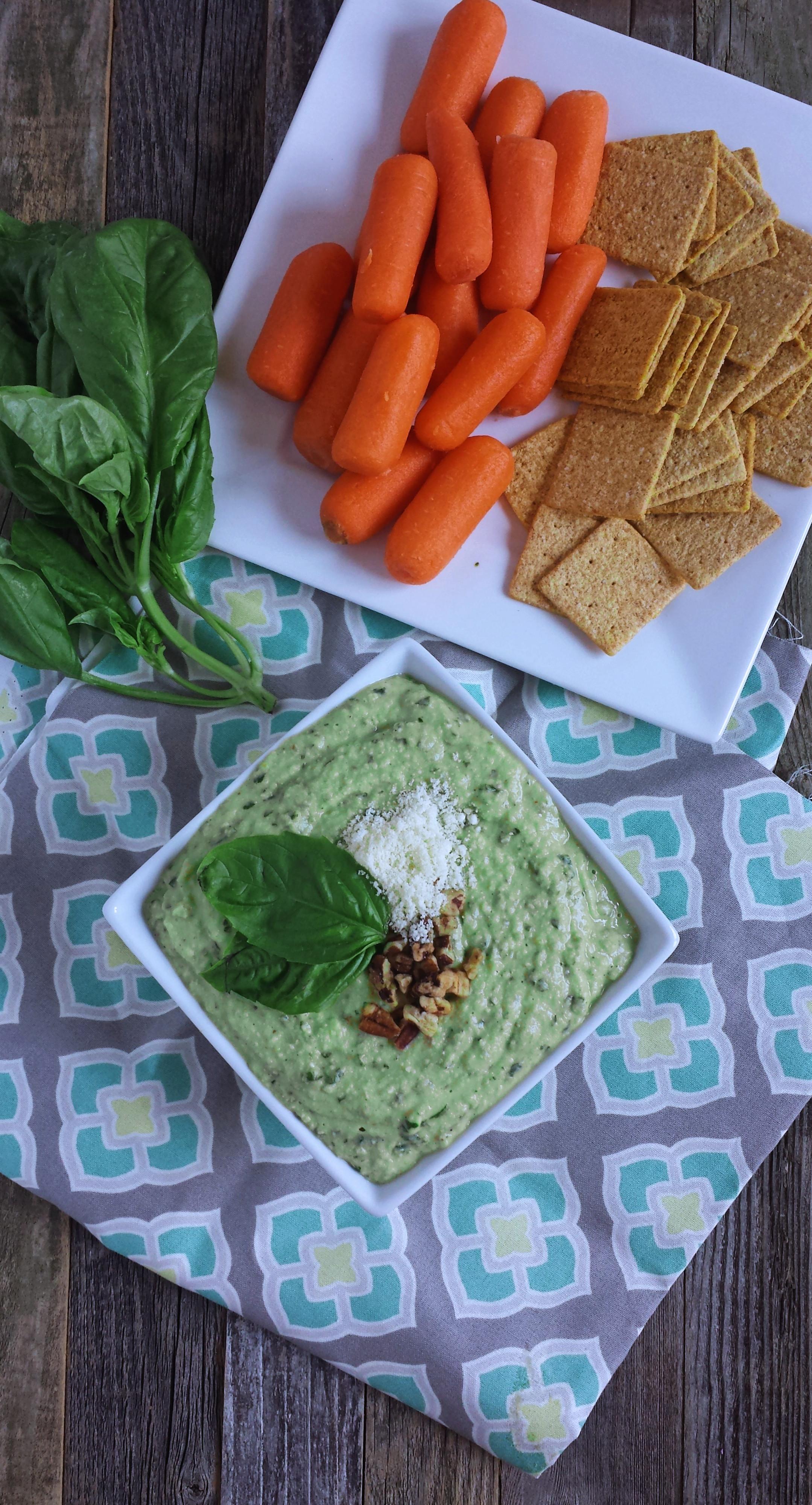 Basil Pesto Hummus | Zen & Spice
