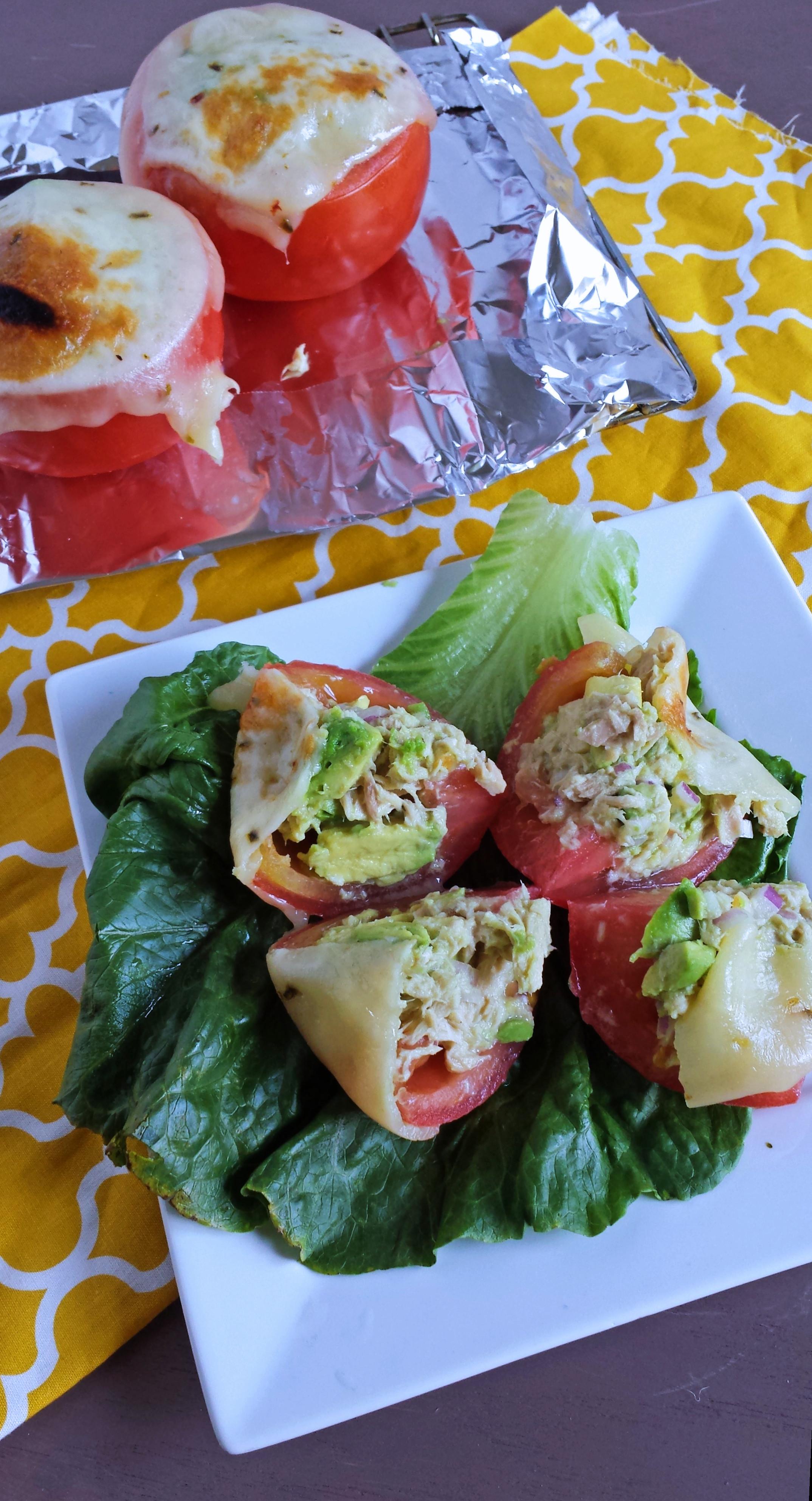 Pepper Jack & Avocado Tomato Tuna Melts   Zen & Spice