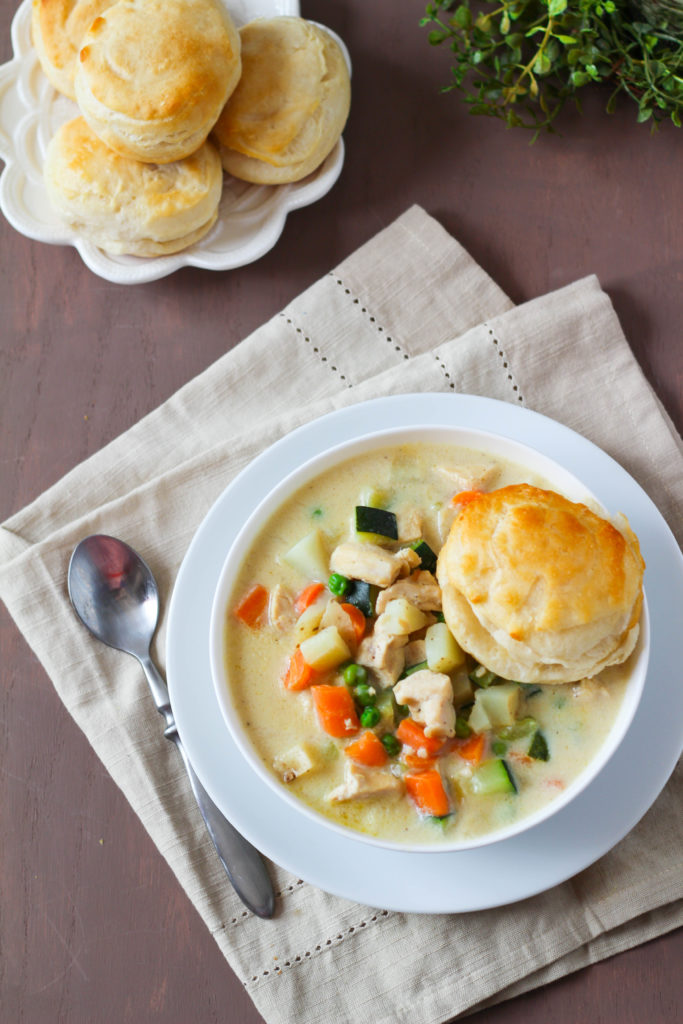 Chicken Pot Pie Soup | Chicken soup | Turkey soup | Winter soup | Pot Pie