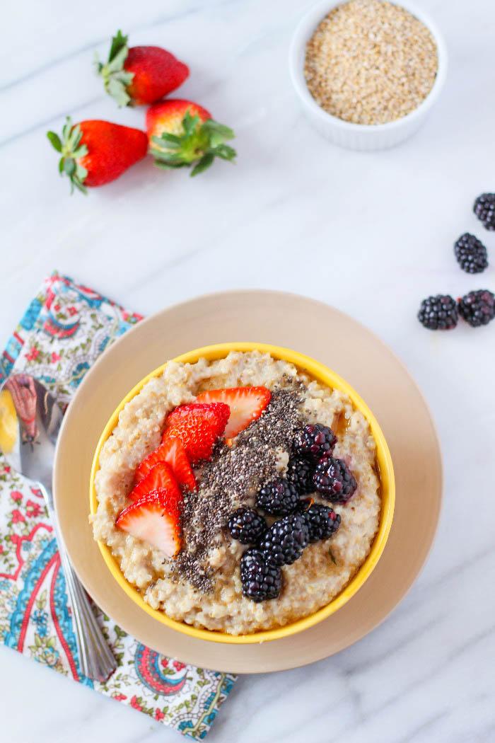 High Protein Quinoa Oatmeal
