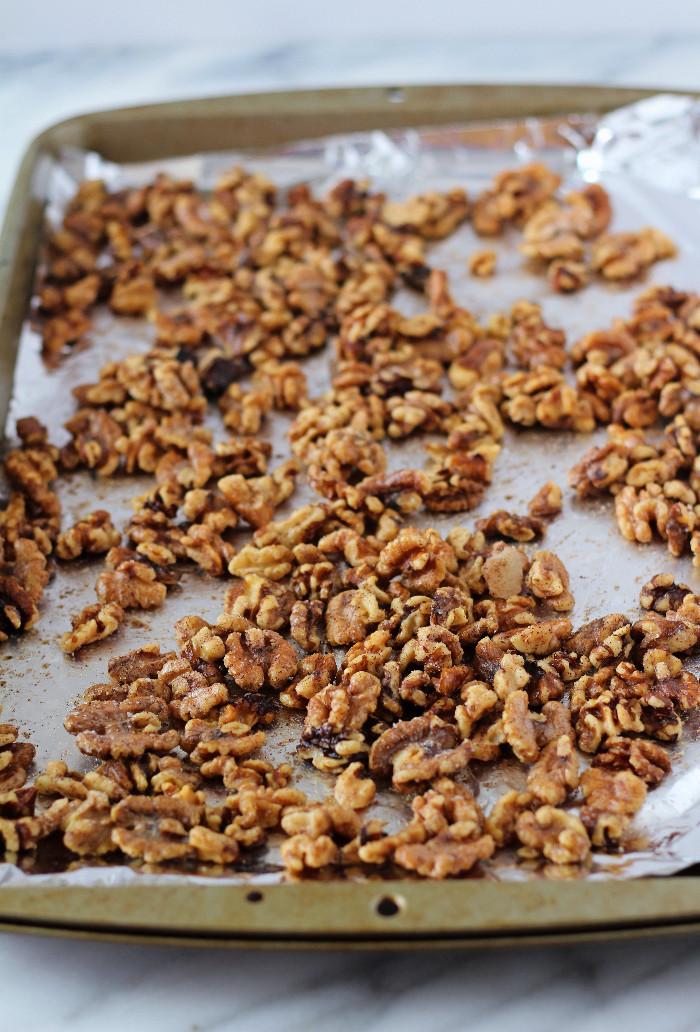 Cinnamon Sugar Toasted Walnuts - Zen & Spice