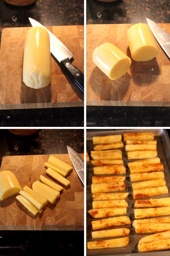 How to cut polenta into fries! | Zen & Spice