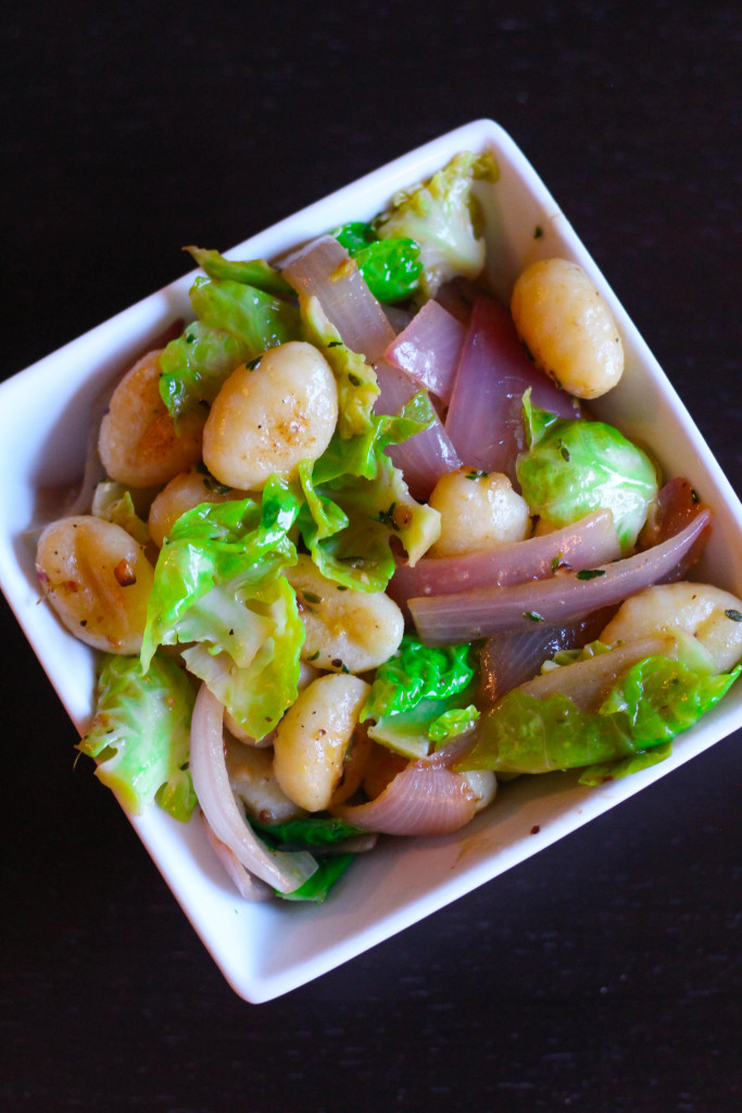 Crispy Brown Butter Gnocchi with Meyer Lemon and Brussels Sprouts-- Blue Apron | Zen & Spice