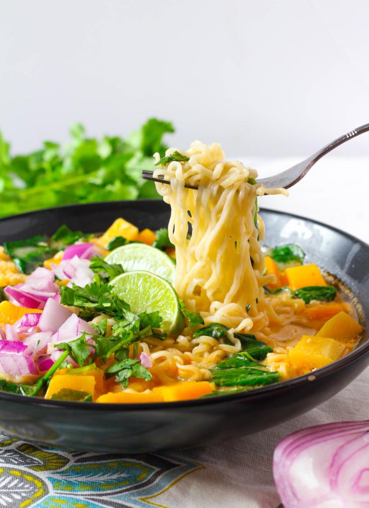 Thai Curry Ramen Noodle Soup | Zen & Spice