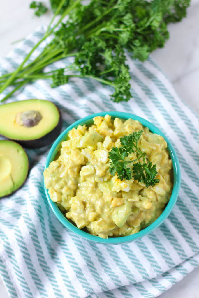 Avocado Cucumber Egg Salad | Zen & Spice