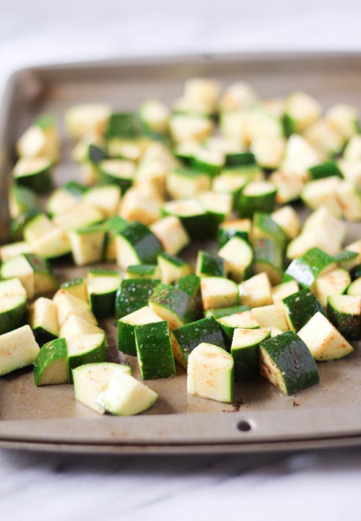 How to Make: Smoked Paprika & Garlic Roasted Zucchini | Zen & Spice