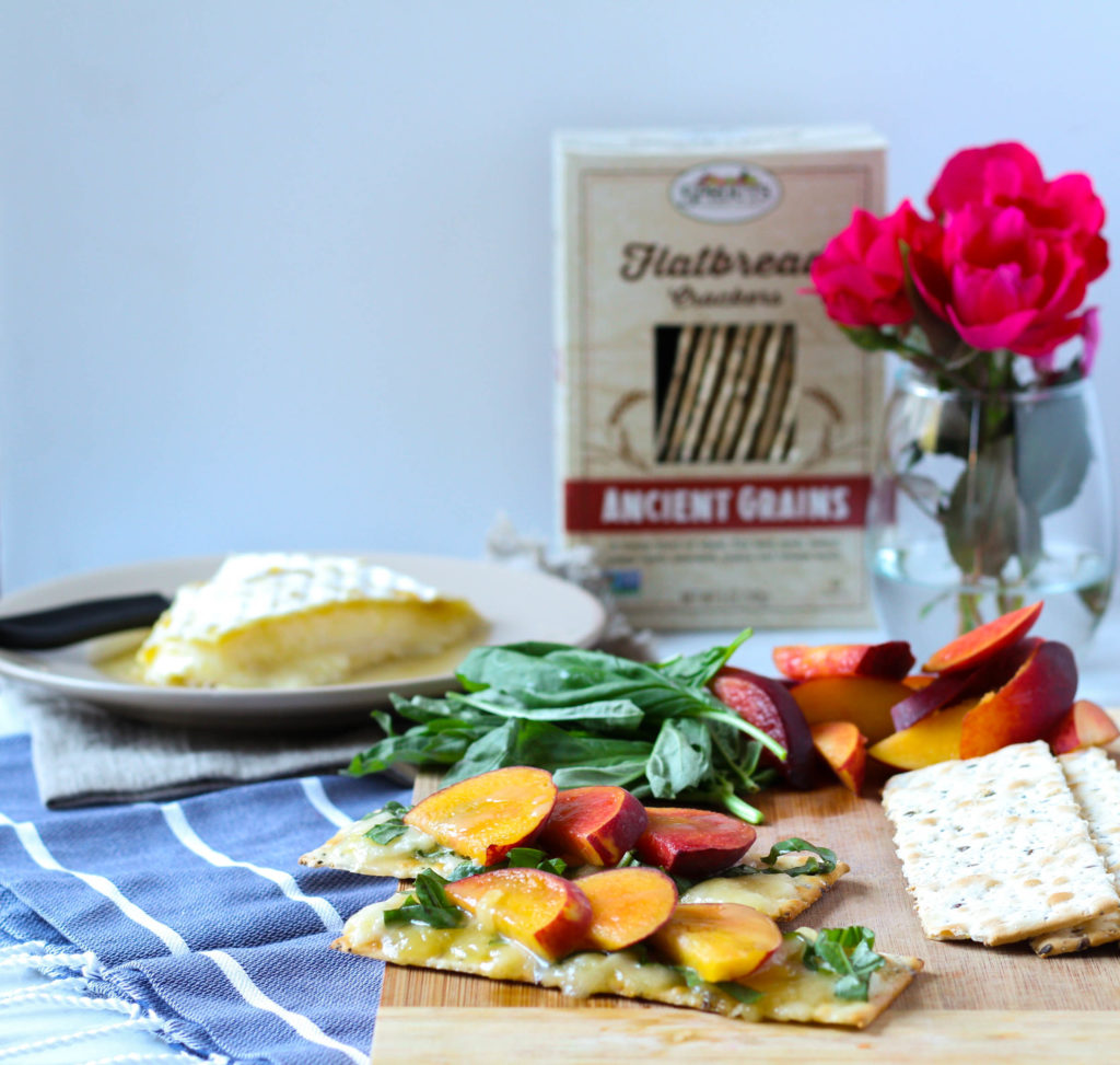 Baked Brie with Honey, Peaches & Basil | Zen & Spice