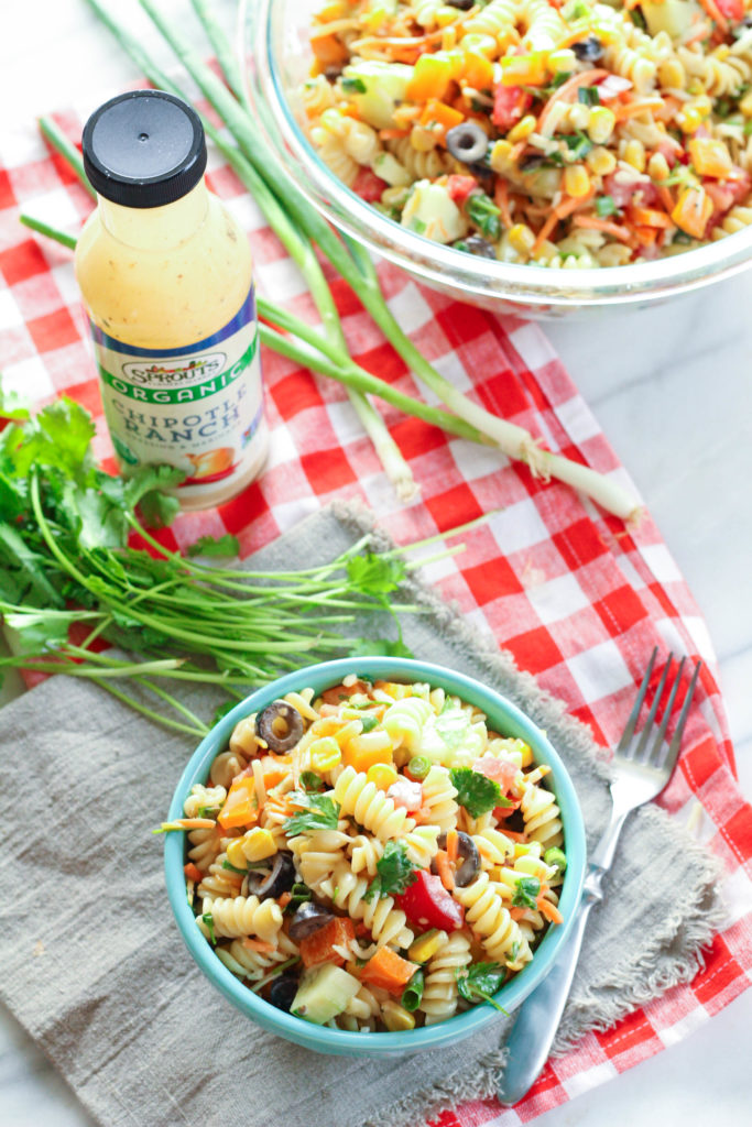 Chipotle Ranch Summer Pasta Salad | Zen & Spice