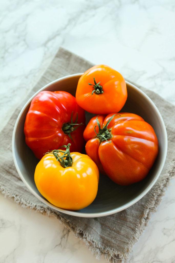 Heirloom Tomato Caprese Salad - Zen & Spice