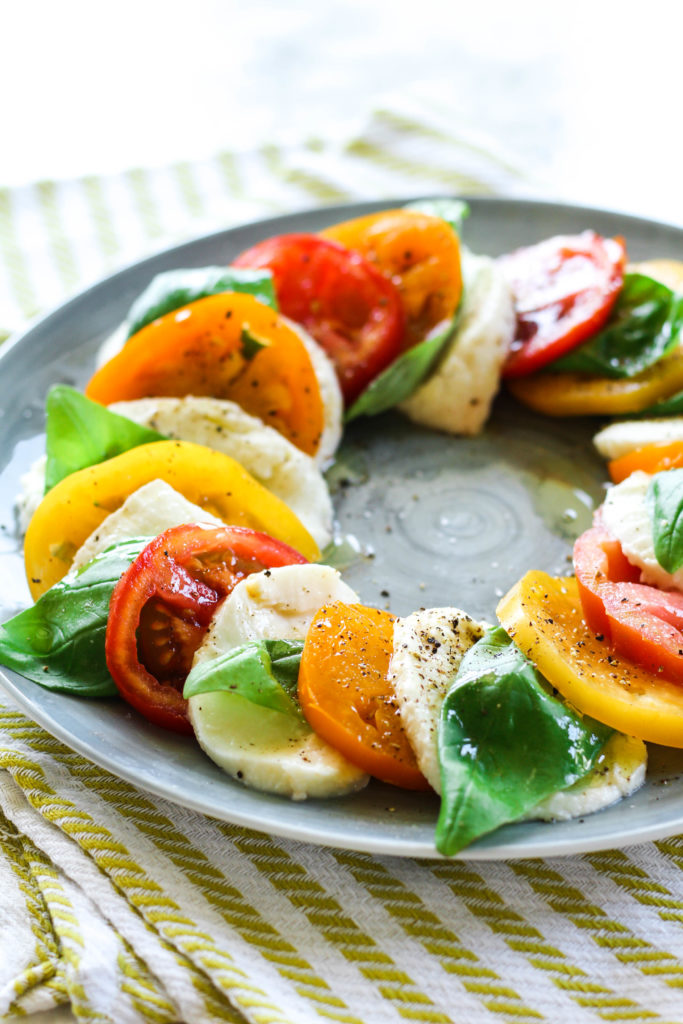 Heirloom Tomato Caprese Salad | Zen & Spice