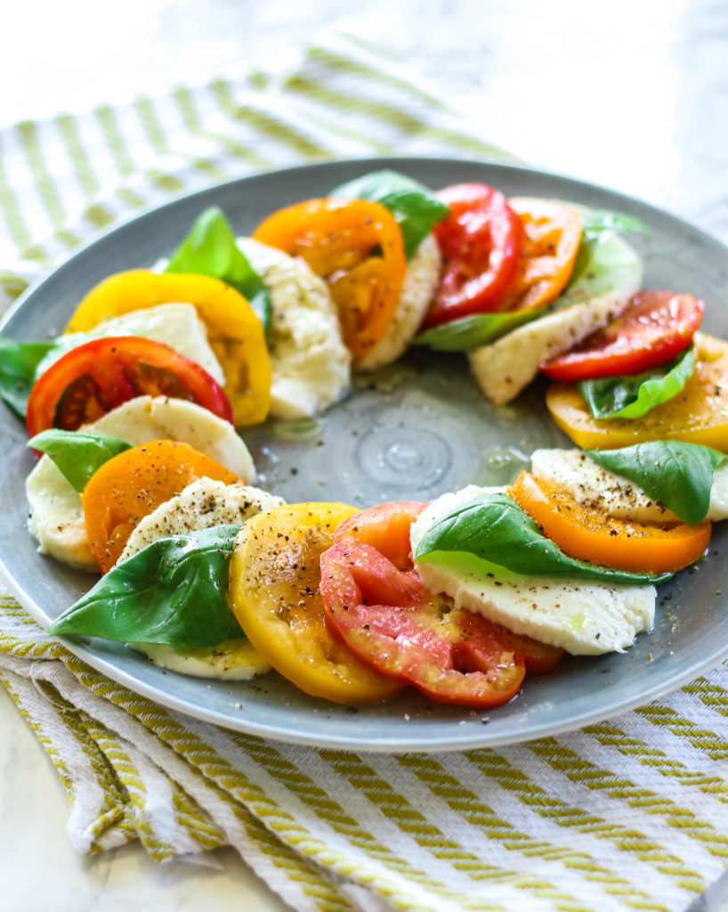 Caprese Salad Recipe Heirloom Tomatoes