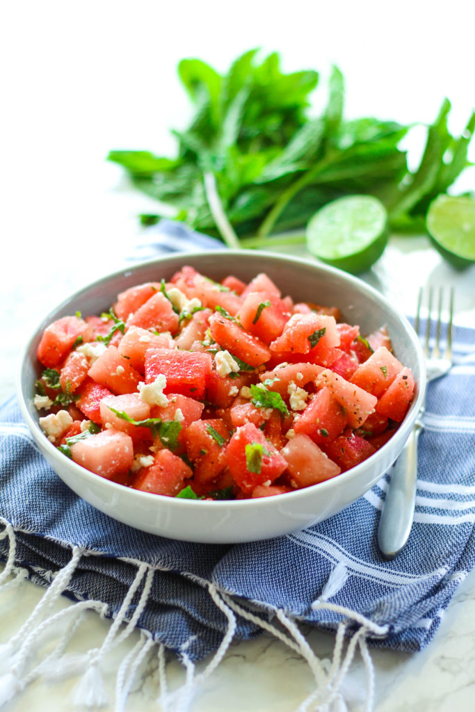 Watermelon, Mint & Feta Salad | Zen & Spice
