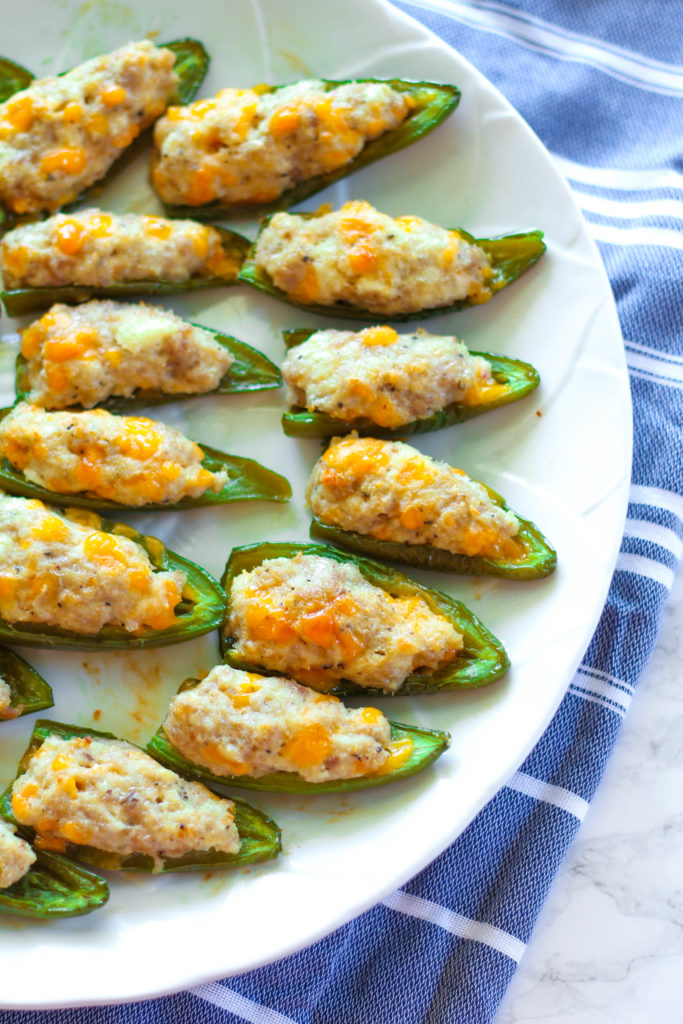 Cheese & Sausage Stuffed Jalapenos | Zen & Spice