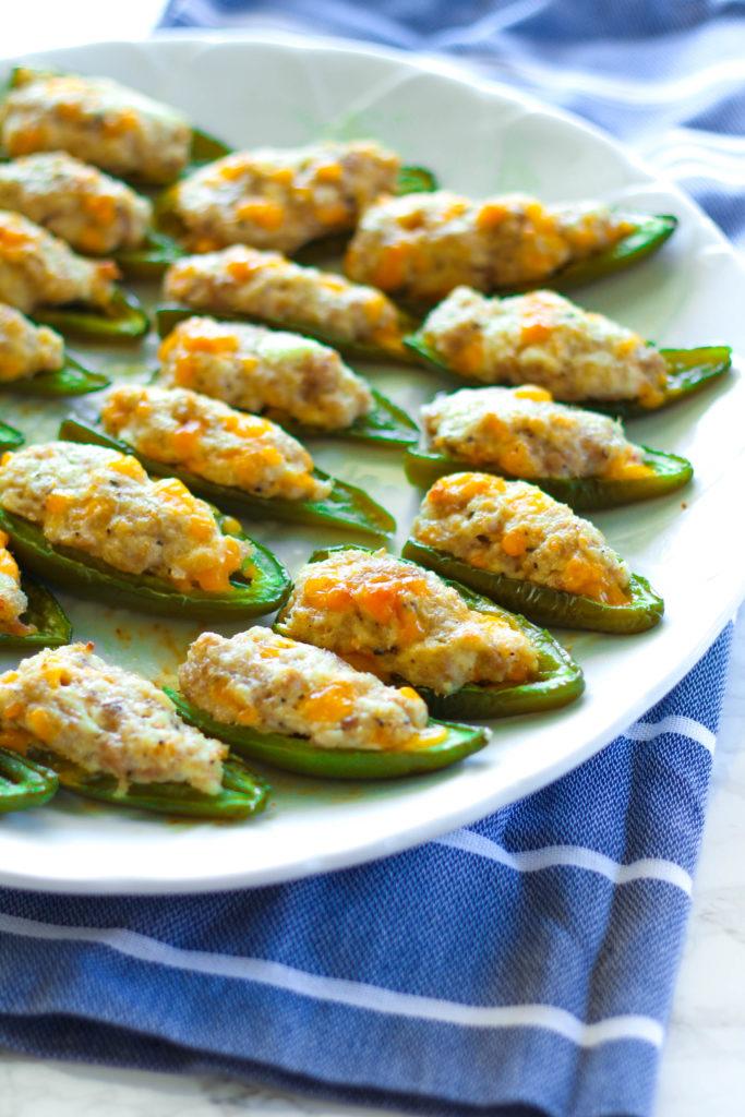Cheese & Sausage Stuffed Jalapenos | Zen & Spice