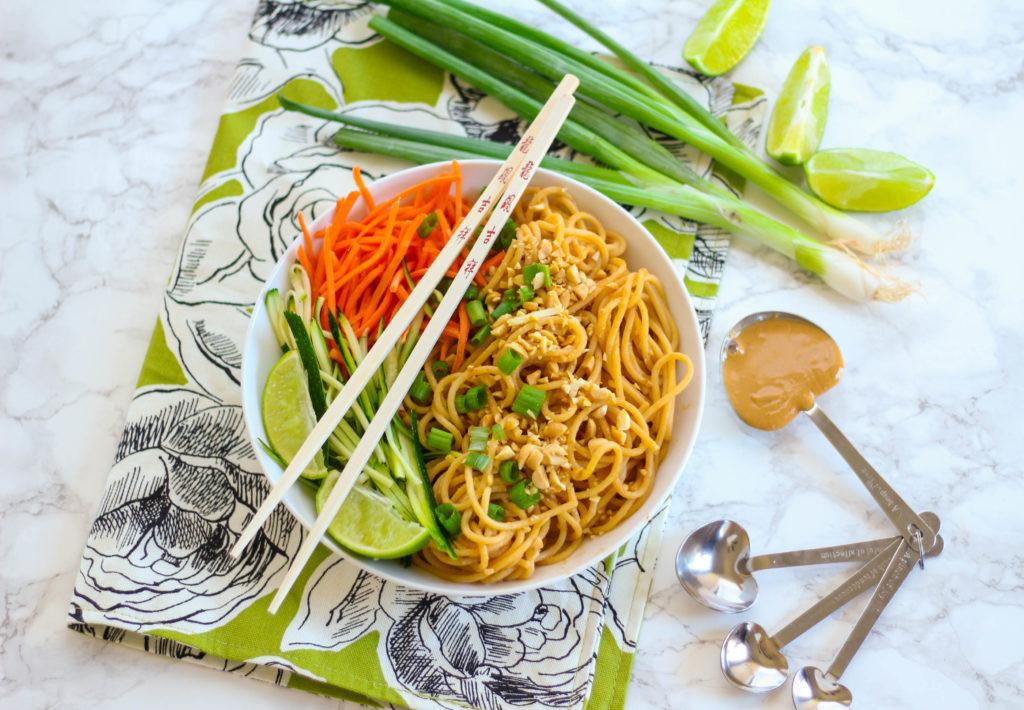 Asian Peanut Noodles for One | Zen & Spice