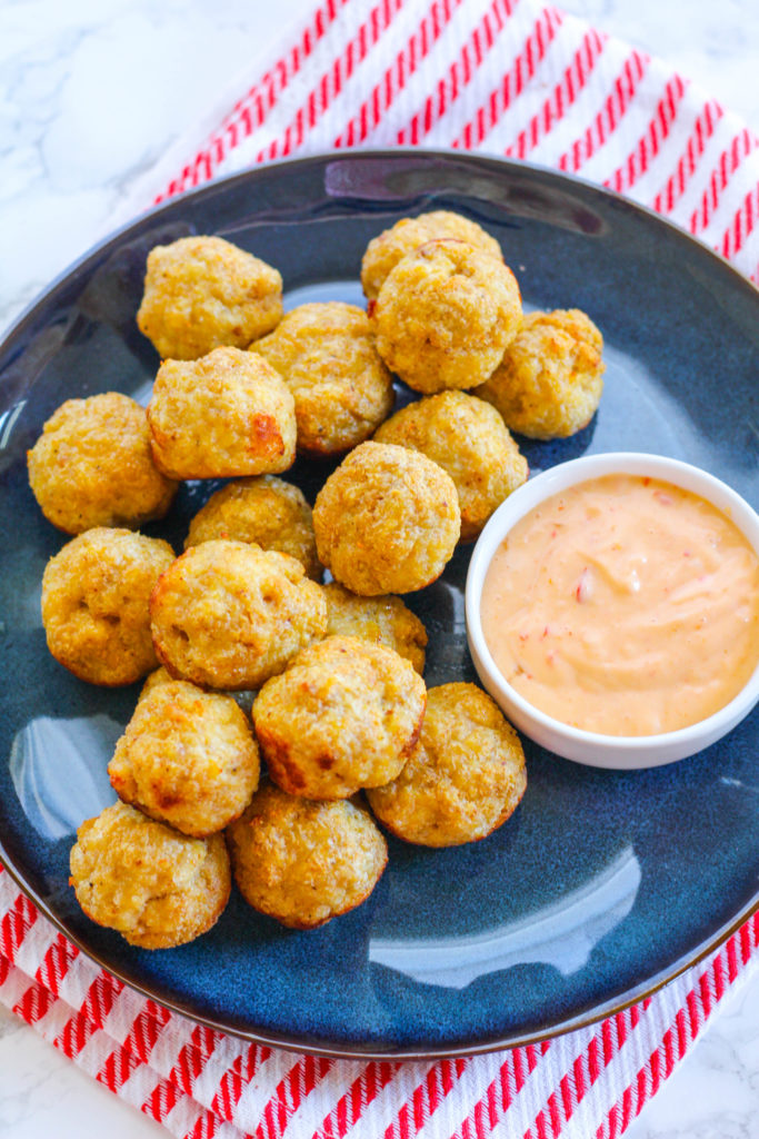 Chicken Meatball Poppers with Sweet Chili Mayo | Zen & Spice