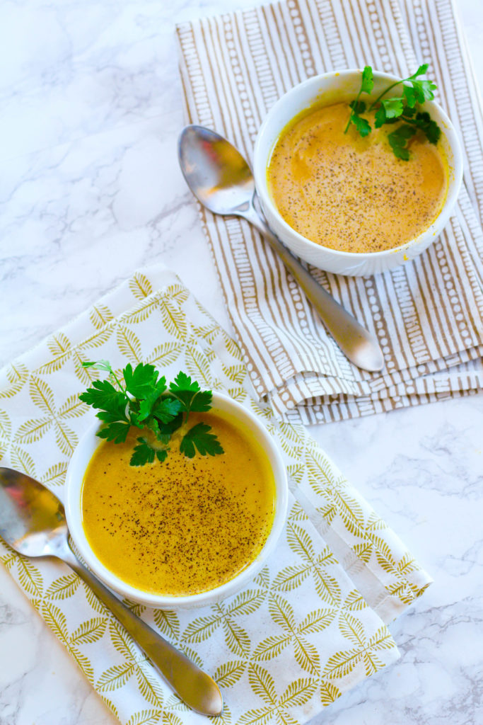 Roasted Butternut Squash Soup with Bone Broth | Zen & Spice