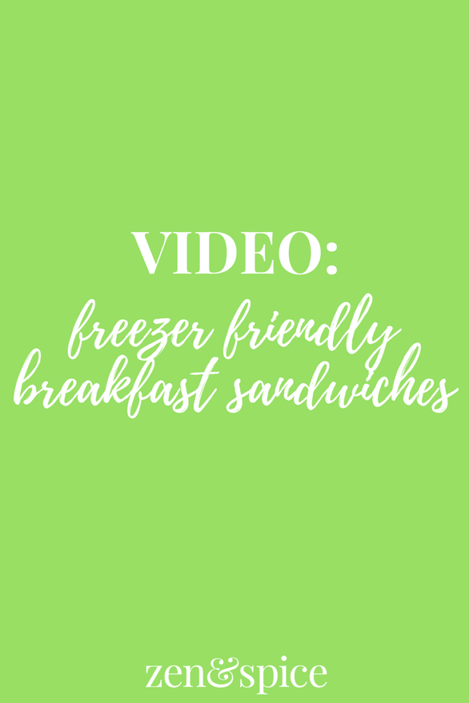 Video: Freezer Friendly Breakfast Sandwiches