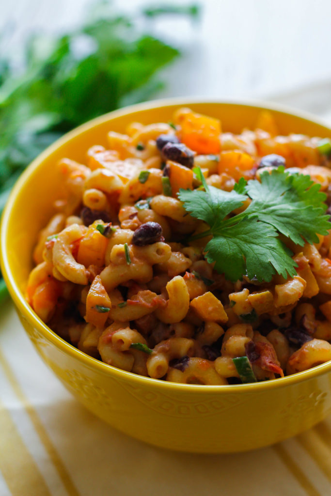 Southwest Pasta Salad | Salsa | Black Beans | Bell Pepper | Macaroni | Cilantro | Tailgating Recipe
