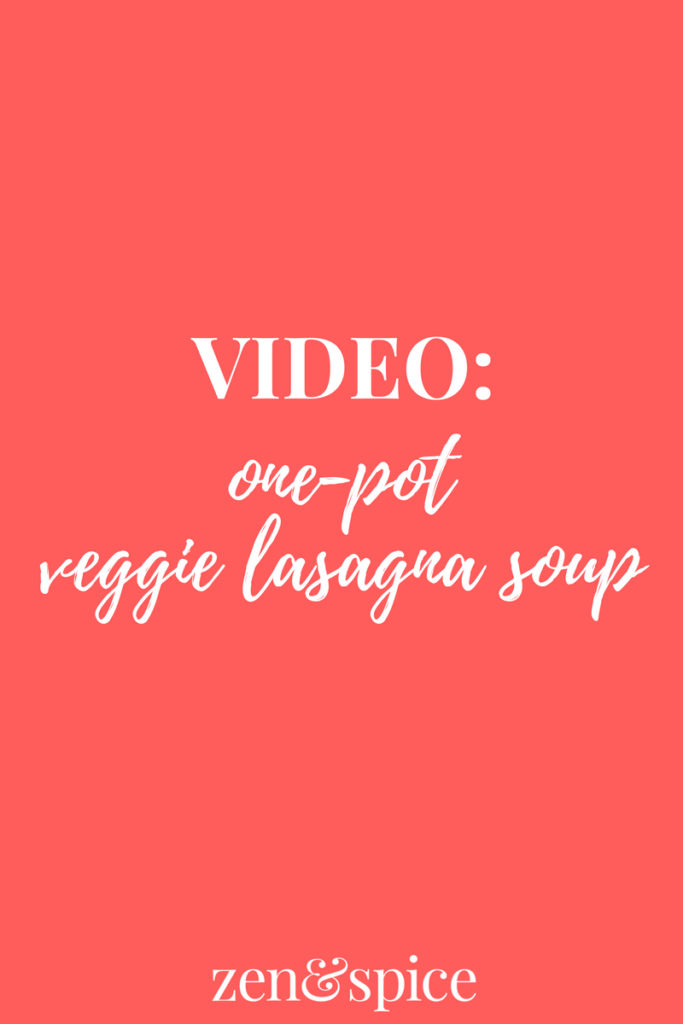 VIDEO: One Pot Lasagna Soup with Veggies is a delicious weeknight meal!