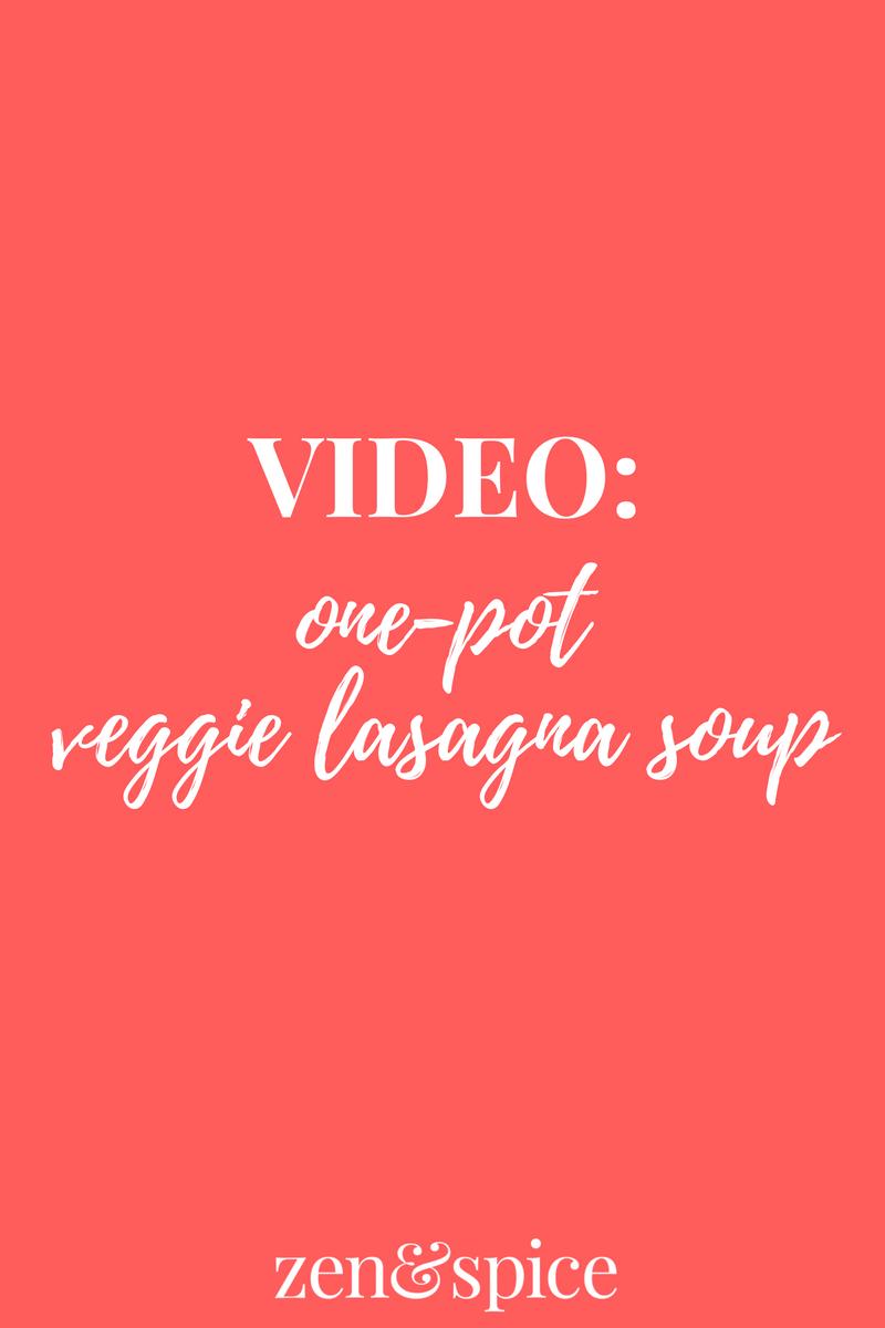 One Pot Lasagna Soup With Veggies Video Zen Spice