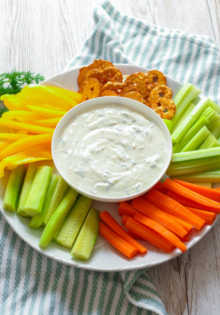 Dill Pickle Dip | Greek Yogurt | Lemon Juice | Fresh Dill | Appetizer | Veggie Dip