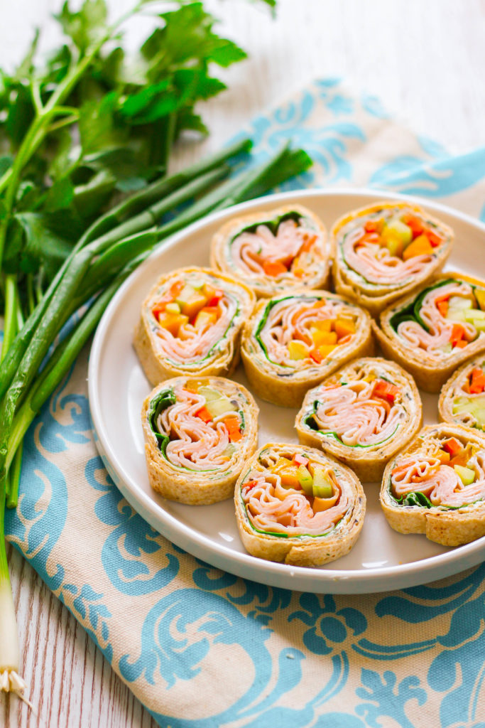 Herb Cream Cheese Turkey Rolls | Tortilla Rolls | Appetizer | Lunch | Quick Meals