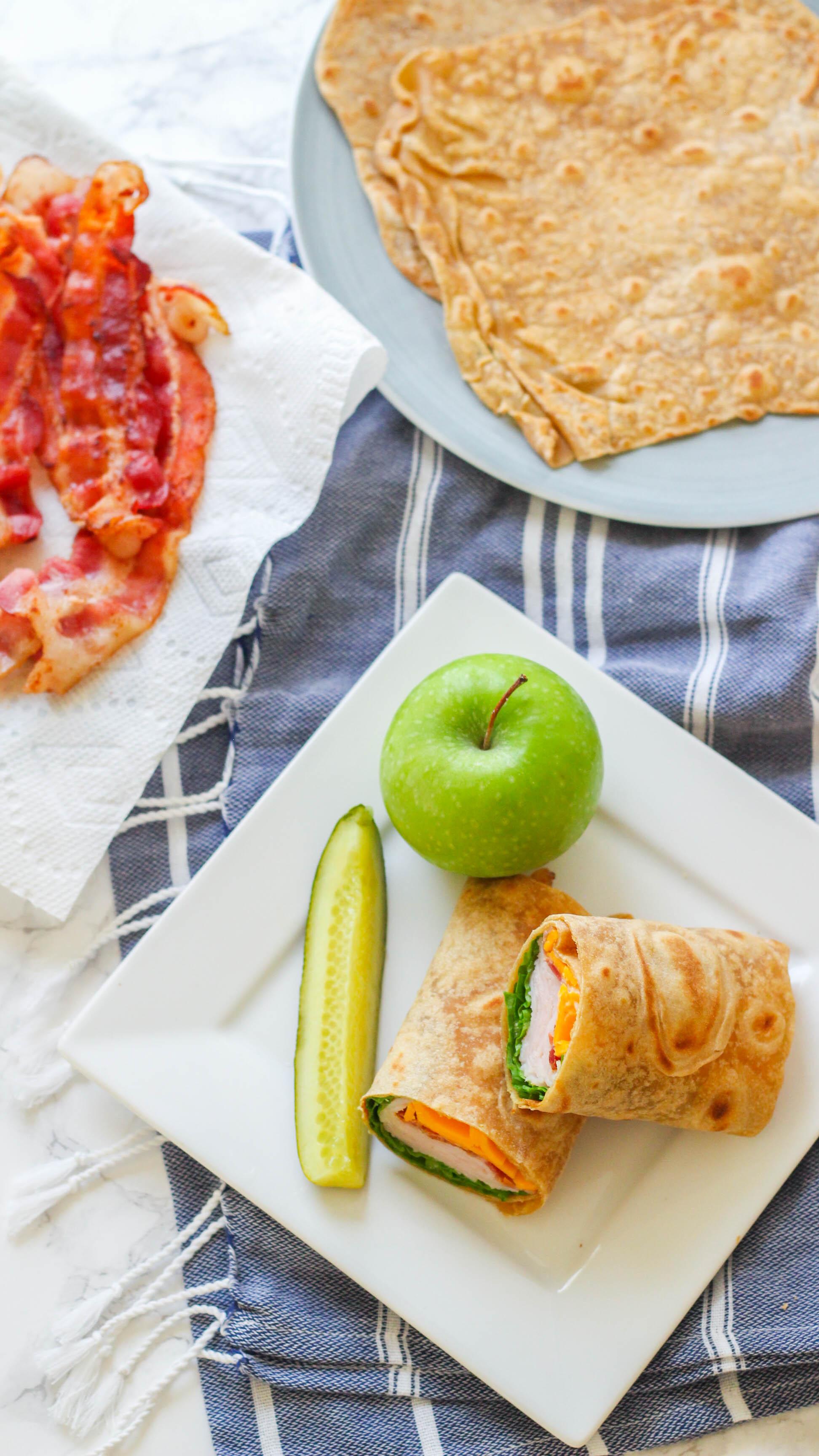 Bacon Ranch Turkey Wrap | Easy Lunch Idea | Healthy Wrap | Turkey Wrap | Bacon Wrap | Healthy wrap with bacon