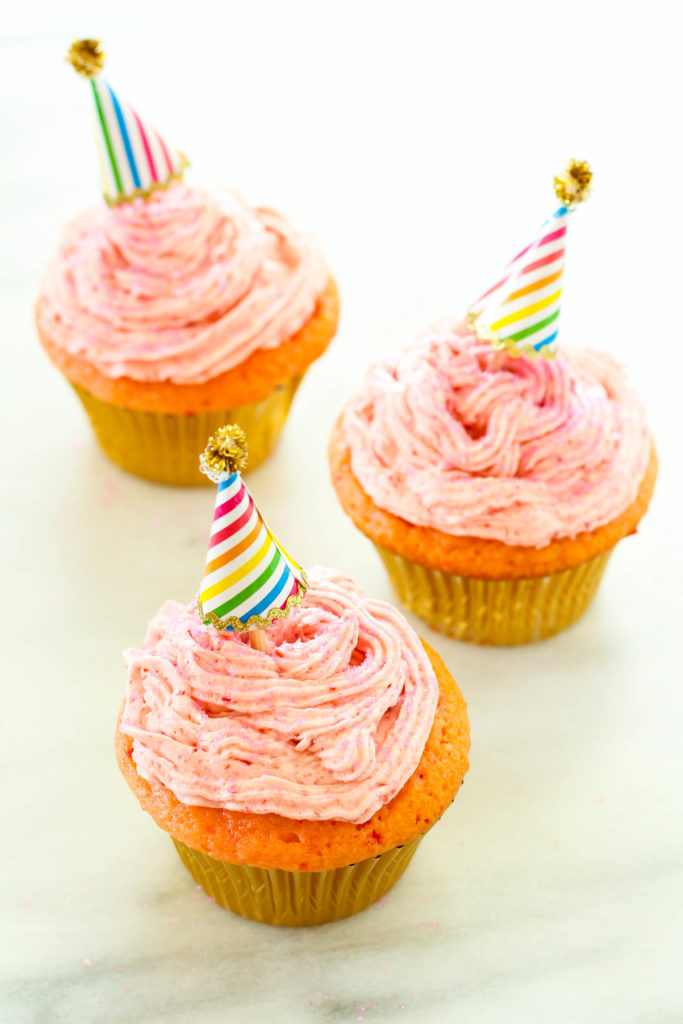 Super Moist Strawberry Cupcakes with Real Strawberry Buttercream Icing