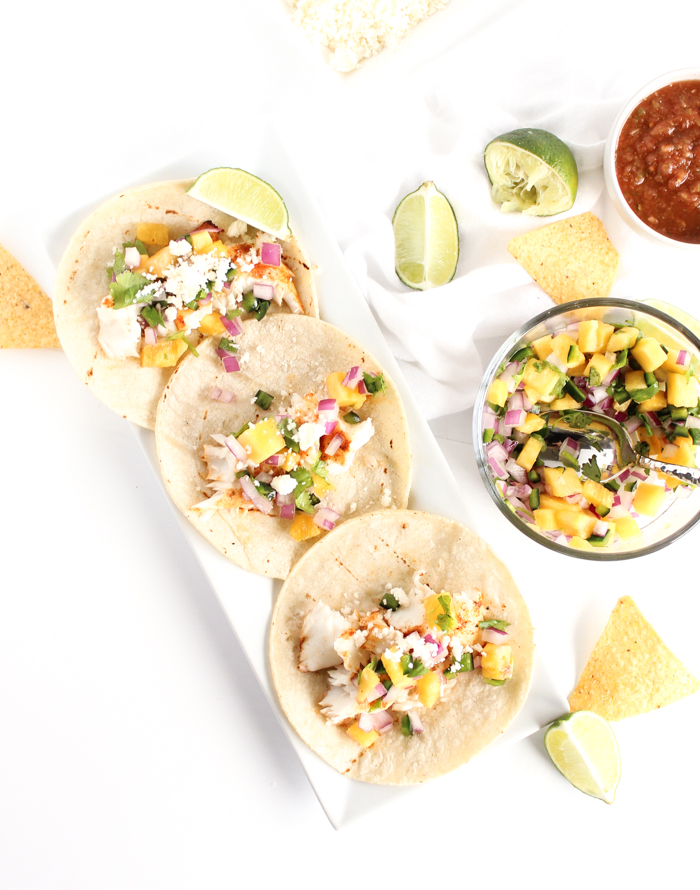 Grilled Fish Tacos with Pineapple Salsa   Grilled tacos   Fish tacos   Fruit salsa