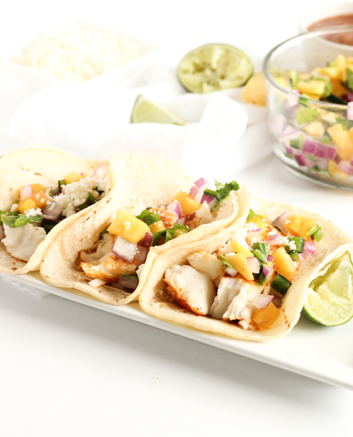 Grilled Fish Tacos with Pineapple Salsa | Grilled tacos | Fish tacos | Fruit salsa