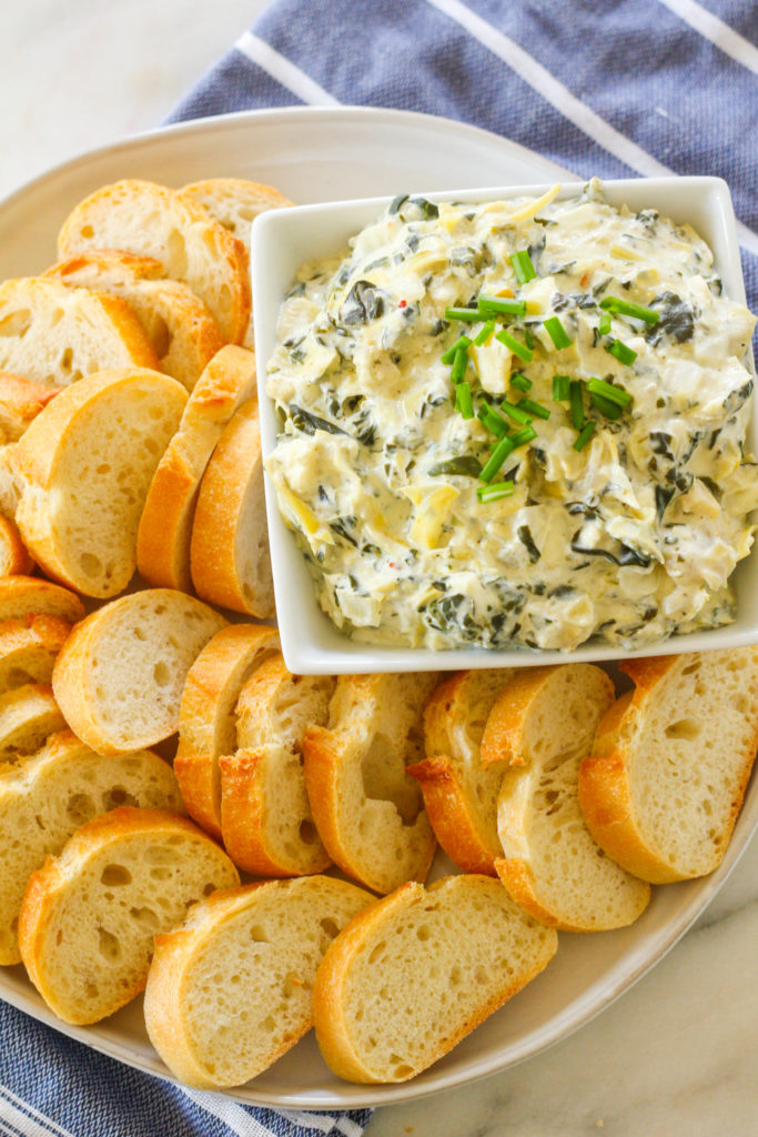 Slow Cooker Spinach Artichoke Dip   Holiday Appetizers   Party appetizers   Artichokes   Spinach