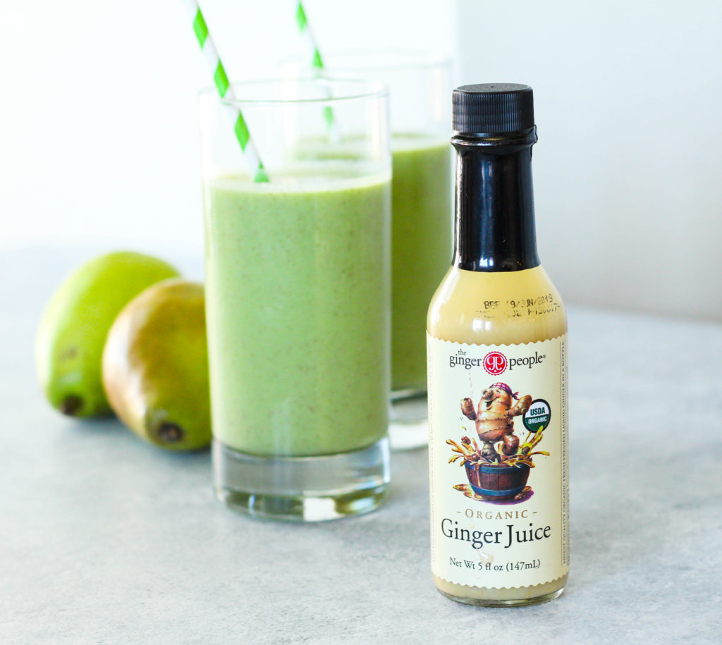 Crisp and sweet pears combine with tender baby spinach, Greek yogurt, and the zingy addition of juiced ginger. This Ginger Pear Smoothie is refreshing any time of the year!
