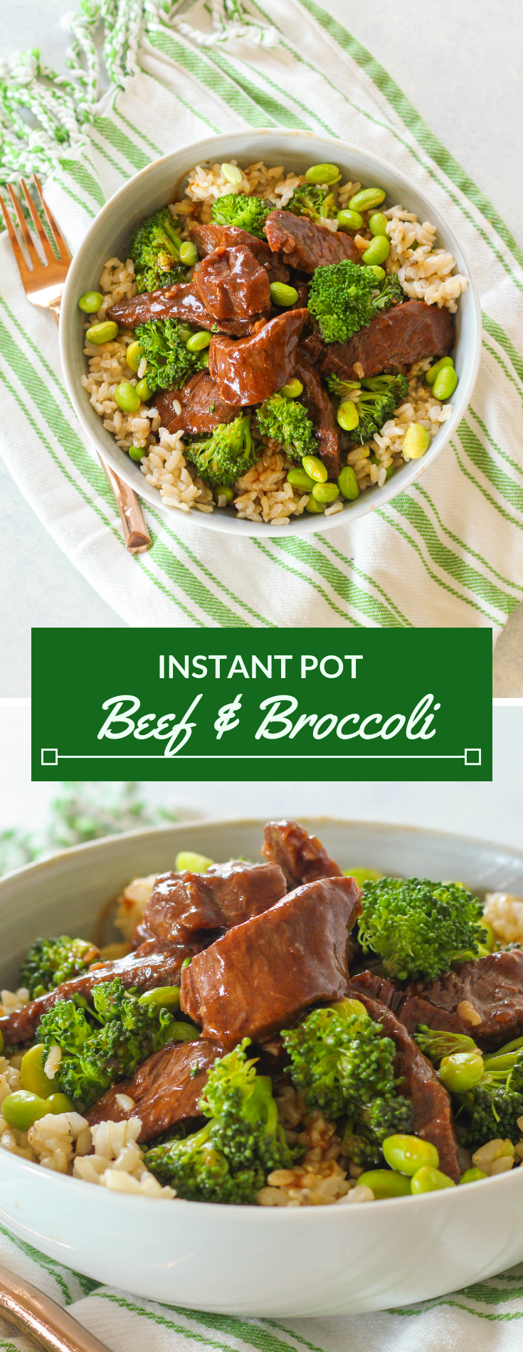 Tender slices of beef chuck roast cooked in a sweet and savory garlic ginger sauce-- this Instant Pot Beef and Broccoli is perfect for a quick weeknight meal!
