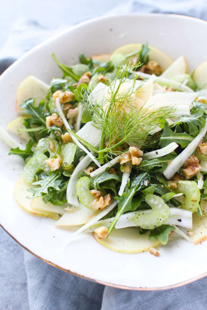 Fennel Apple Salad with Walnuts and Parmesan