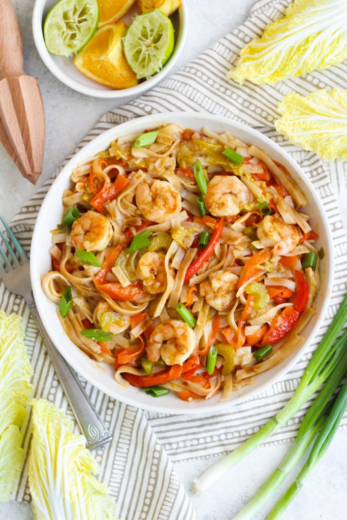 Inspired by traditional Filipino cuisine, this Sweet and Sour Shrimp dish is the perfect combination of sweet and sour flavors. The sauce contains two types of citrus, brown sugar, soy and fish sauce for that delicious umami-bomb.